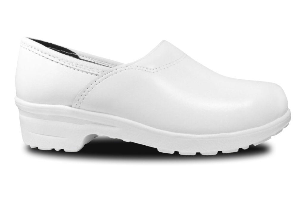 Clogs mit Flex-Sohle in Weiß, geschlossen